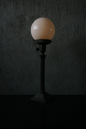 glass ball stand light>SOLD