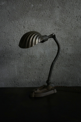 shell shade desk lamp>SOLD