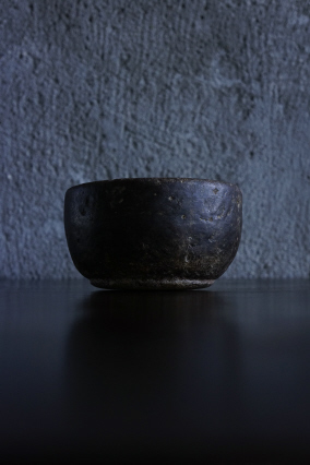 SOLD >brown stone heavy bowl